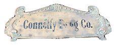 Bronze National Cash Register 2 Sided Top Sign Super Rare Connelly Drug Co. N Y