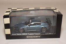 Q MINICHAMPS ASTON MARTIN DBRS9 DB RS 9 LAUNCH VERSION 2006 BLUE MINT BOXED