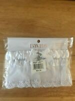 DAVID'S Bridal White Adjustable Garter & Toss Away Garter NIP