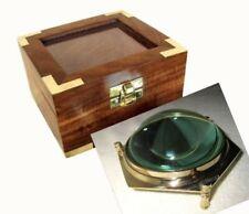 Exclusive Lupe- Kartenglas- Kartenlupe in dekorativer Holzbox