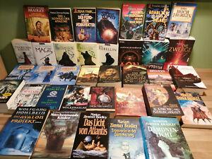 Verschiedene Bücher SCIENE FICTION KONVOLT SAMMLUNG FANTASY 36 Stück