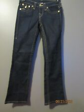 WOMEN'S TRUE RELIGION BECKY BOOT CUT JEANS TAG 25 ACTUAL 28X30 EUC