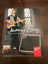1997 VINTAGE 8X11 PRINT Ad FOR Fender GUITARS JONNY LANG TELECASTER THINLINE