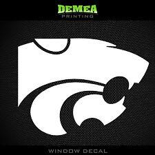 """Kansas State - Wildcats - icon  -  NCAA - White Vinyl Sticker Decal 5"""""""