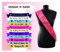 Custom Printed Sash Baby Shower Mum to be Fast Dispatch Design your own Sashes