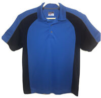 Grand Slam Men's Large Polo Golf Shirt  Blue 100% Polyester Airflow