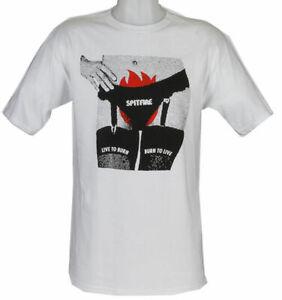 SPITFIRE WHEELS - Skateboard Tee Shirt - Large / White - Crotch Fire