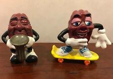 Vintage California Raisins Skateboard And Saxophone Figure Figurines PVC