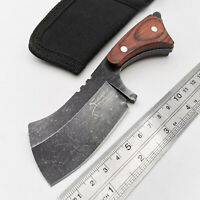 Fixed Blade Tactical Knife 440C Blade Wood Outdoor Camping Utolity EDC Tools