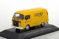 Vw t2 bulli tole sedex yellow altaya 1/43 volkswagen brasilia Brazil correios