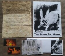 THE HERETIC HARE Advance PROMOTIONAL PRESS KIT! STICKERS! MAGNETS! FREE SHIPPING