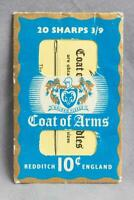 Vintage Redditch England Coat Of Arms Needles Advertising Card jds