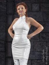 Lackkleid Kleid Weiß Mini Ärmellos Vinyl Maßanfertigung