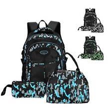 3 Set Rucksack Jungen Mädchen Ranzen Schulranzen Schulrucksack+Tasche+MäppchenDE