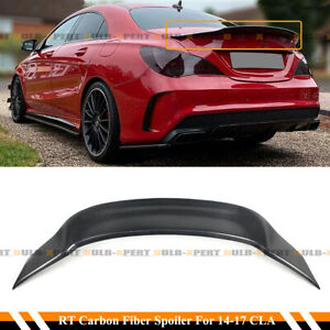FOR 14-19 MERCEDES CLA250 CLA45 AMG W117 R STYLE CARBON FIBER TRUNK SPOILER WING