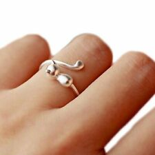 Women Jewelry Fashion Finger Open Rings Cute Pet Cat Ring Party Birthday Gifts