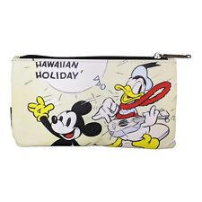 a6fa15e55c0c Loungefly Disney Mickey Hawaiian Surf Zippered Pouch NEW Womens Cosmetic