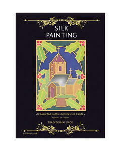 Silkcraft Silk Painting Gutta Outlines-10 Pack 10x15cmTraditional Xmas for cards
