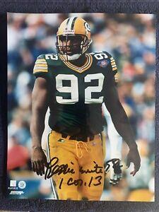 Reggie White 92 - 1 Cor 13 Autographed Green Bay Packers 8x10 Photo w/COA