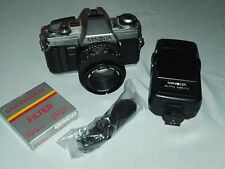 Minolta X-370 35mm SLR Film Camera with 50mm lens 132PX Flash