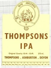 ENGLAND,UK Thompson,Ashburton,Devon THOMPSON IPA 83-85 beer label C1533