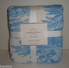 Pottery Barn Matine Toile King Duvet Cover NWT French Blue