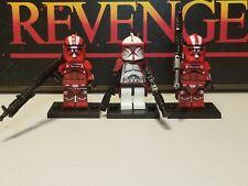 COMMANDER FOX & Heavy Clone Troopers lot 3 minifigures custom Star Wars captain