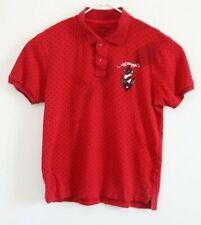 Ed Hardy Polo Shirt Red Christian Audigier Mens Size XL
