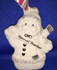 Lenox Merrily Yours Snowman Special Teacher Holiday Christmas Ornament Pre-owned