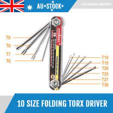 NEW 10 Size New Folding Torx Star Key Set Portable Wrench Tool Screwdriver 94102