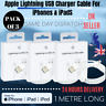 3 PACK x 1M Genuine Lightning USB Charger Cable For iPhone 8 7 6 5 X XS iPad