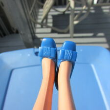 Vintage Francie Doll Clothing Shoes Royal Blue Soft Bow Travel In Style Twiggy