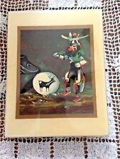 "Vintage 1991 Arizona Hopi Kachina Dancer Tile Picture 4 5/8"" X 6"""