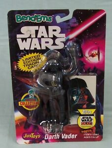 Star Wars Bend-Ems Lord Darth Vader on card Justoys - trading card #12361 c1993