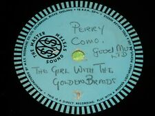 """PERRY COMO : Girl with the golden braids - UK 10"""" single sided 78rpm Acetate 202"""