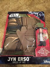NEW Star Wars Rogue One Jyn Erso Dress Up Set Outfit Costume Disney Sz 4-6