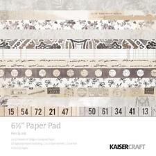 "KAISERCRAFT Scrapbooking 6.5"" Paper Pads - Pen & Ink - Nini's Things"