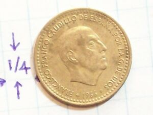 COIN SPAIN 1966 UMA PESETA 1 FRANCISCO