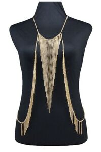 European and American exquisite explosions one-piece chain bikini sexy necklace