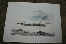 Chinese Ink & Watercolour Painting Print on Rice Paper #1