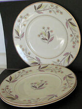 "Three vintage 1950's Myott side plates with ""Charmaing"" pattern -  20 cm across"