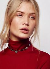 Free People Chasing Rainbows Crystal Stone Choker Necklace Jewelry By Tova $108.