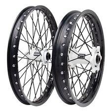 Kawasaki KX125 KX250 KX250F KX450F Tusk Impact 21/19 F/R Wheel Kit Black/White