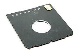 Linhof Technika Original Off-Center Lens Board With Logo F/Copal #0 W/35mm Hole.