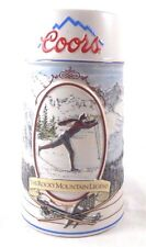 """1991 Coors """"Rocky Mountain Legend Series Beer Stein Mug Skier #89485 xCountry"""