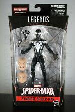 SYMBIOTE SPIDER-MAN black suit costume Marvel Legends KINGPIN BAF heads head NEW