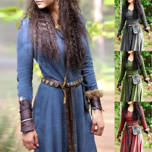 Medieval Gothic Victorian Women Retro Long Dress  Carnival Party Fancy Clothing
