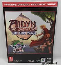 The Aidyn Chronicles THE FIRST MAGE Prima Official NEW!! Nintendo 64 N64