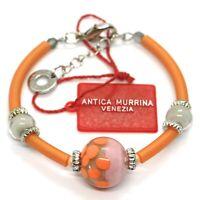 Pulsera ANTICA MURRINA VENEZIA,BR718A25, Naranja,Esfera Lunares,Semirígido