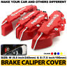 4Pcs Red 3D Brake Caliper Covers Style Disc Universal Car Front Rear Kits CY01